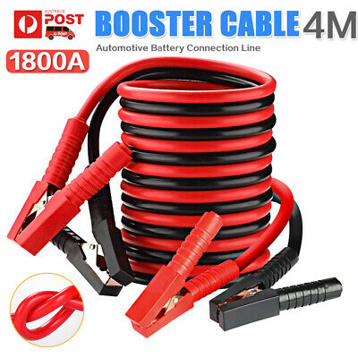 1800AMP Jumper Leads Surge Protected Long Heavy Duty 4M Car Jump Booster Cables