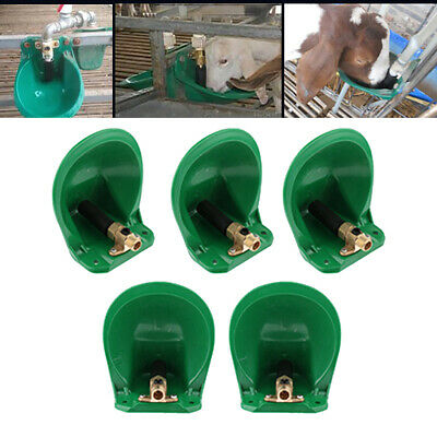 5pcs Automatic Water Bowl w/ Metal Valve Lot for Farm Animals Sheep Goat