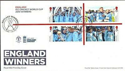 GB 2019 Royal Mail Cricket World Cup Winners M/S London H/S FDC Unaddressed