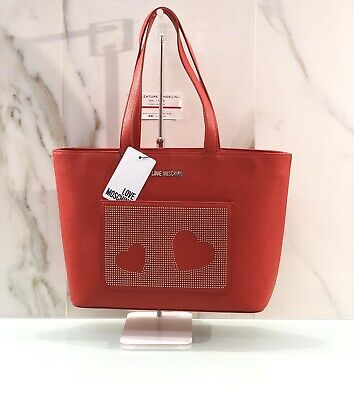 borsa love moschino rossa Donna Shopping A Spalla Love Moschino