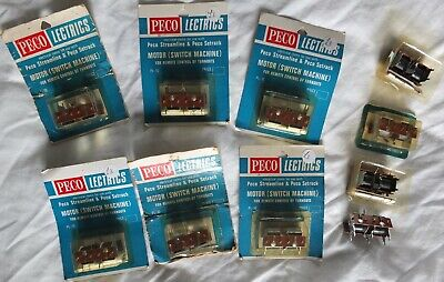 10 x New Peco Lectrics PL-10 Remote Turnouts Motors (switch machine) OO Gauge