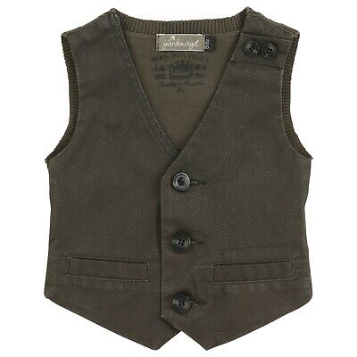 JEAN BOURGET Boys Formal Chestnut brown waistcoat 3 years