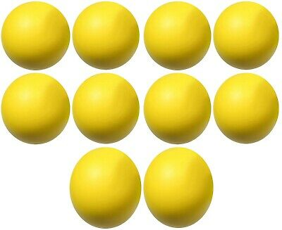 10x YELLOW ANTI STRESS RELIEVER BALL STRESSBALL RELIEF ARTHRITIS PHYSIO HAND AID