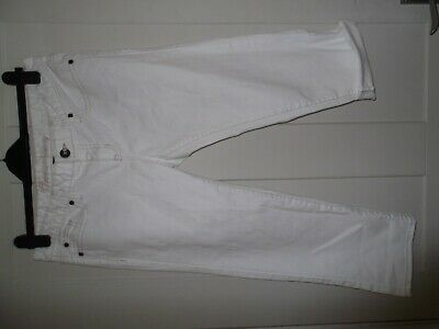 Gorgeous Gap Stretch Ladies / Girls Off White Capri Cropped Jeans Size 14