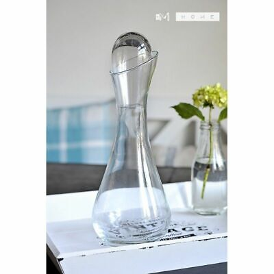 Handmade Mouth Blown Clear Glass Carafe Decanter Wine Brandy Liquor Whiskey 1...
