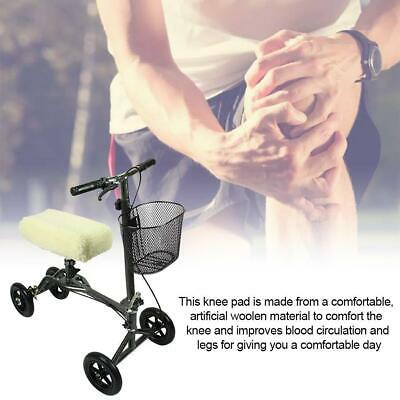 Knee Rover Universal Knee Walker Knee Rest Pad Cover - Plush Synthetic Knee Pad