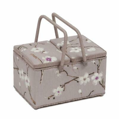 HobbyGift Twin Lid Sewing Basket - Blossom