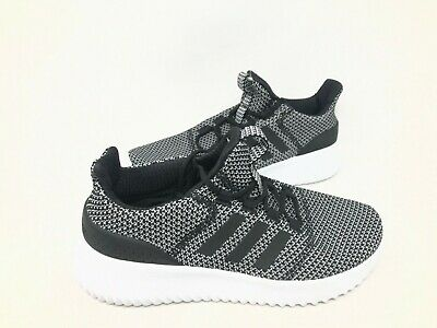 NEW! Adidas Youth Kids Cloudfoam Ultimate Lace Up Shoes Blk/Wht #AQ1689 165RS tk