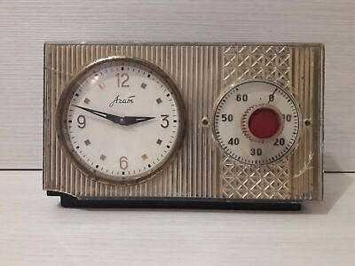 Soviet Vintage table clock Agate . Very Rare . Made in USSR