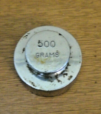 Antique Metal Scale 500 Grams Weight - Nice Condition (14-43)