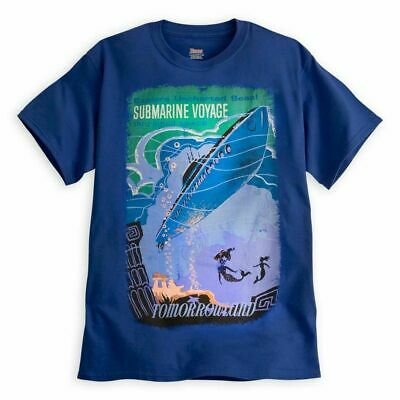 New Disney Parks Disneyland Submarine Voyage Liquid Space Mermaid Shirt Sz Large