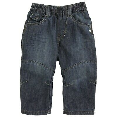 JEAN BOURGET Boy Blue lined denim jeans with elasticated waist 4 years