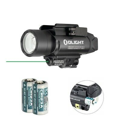 Olight Baldr Pro Green Laser and LED Light Combo, 1350 Lumen CW LED Flashlight