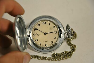 Rare Soviet pocket watch.. Molniya. Vintage USSR