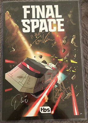 Final Space TBS Signed Autograph Poster SDCC 2018