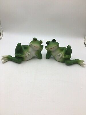 Fabulous Cute Couple Frogs On Wood Figurine Statue Garden Decor Home Ocoug Best Dining Table And Chair Ideas Images Ocougorg
