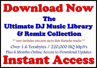 BUY NOW !! Ultimate DJ Music Library Collection w/6mo Updates !! INSTANT ACCESS