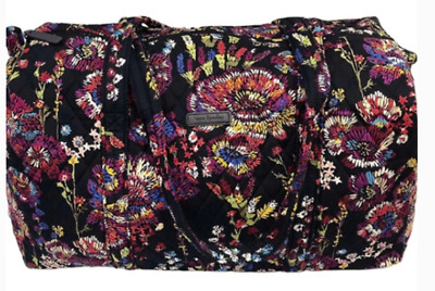 Factory Style Large Duffel  IN MIDNIGHT WILDFLOWERS