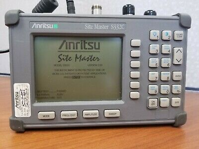 Anritsu Site Master S332C Cable Tester and Spectrum Analyzer