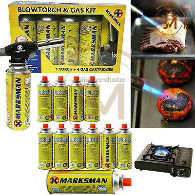 Butane Gas Bottles Canisters for Stoves Cooker Grill Heaters Weed BlowTorch Kit