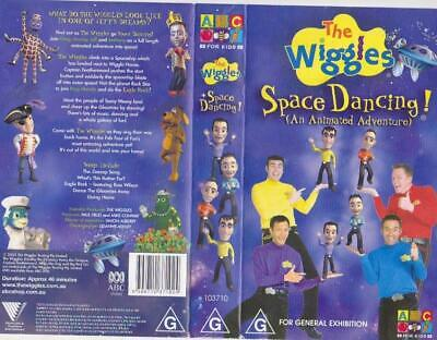 The Wiggles Wiggly Space Dancing  Vhs Video Pal~ A Rare Find