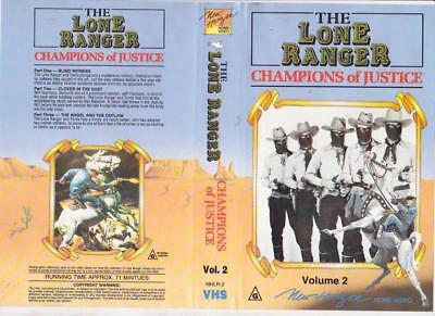 The Lone Ranger Champions Of Justice Volume 2   Vhs Pal Video  A Rare Find