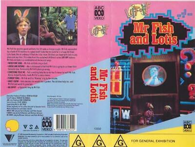 Mr Fish And Lotis Lift Off Abc  Vhs Pal Video A  Very Rare Find