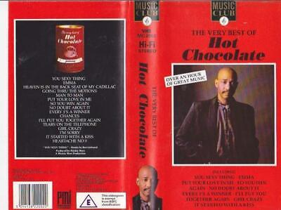 Hot Chocolate The Very Best Of Vhs Pal Video A Rare Find