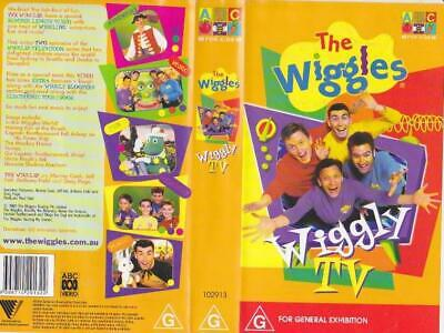 The Wiggles Wiggly Tv  Vhs Video Pal~ A Rare Find