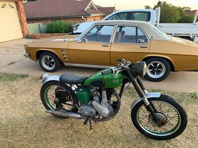 BSA B31 1950 350  bobber rat barn find trial trail scrambler not goldstar