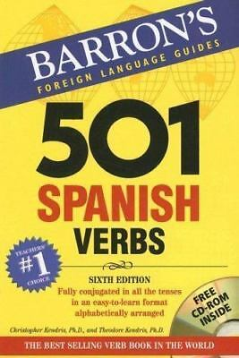 Barrons Foreign Language Guides: 501 Spanish Verbs (Book & CD-ROM)