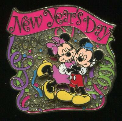 WDW New Year's Day 2006 Mickey & Minnie Mouse LE Disney Pin 43613