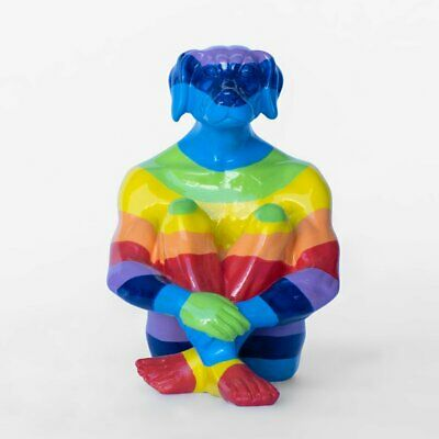 GILLIE AND MARC. Direct from artists. 'Rainbow Dogman' Mini resin sculpture