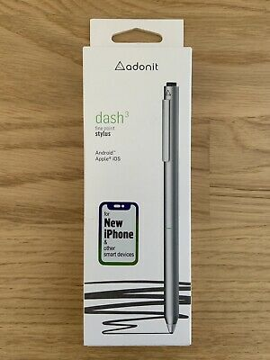 Adonit Dash 3 - Fine Point Precision Stylus iPhone, Android, iPad - Silver Apple