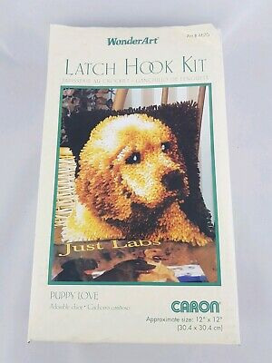 "WonderArt Latch Hook Kit #4670 Puppy Love 12"" X 12"""