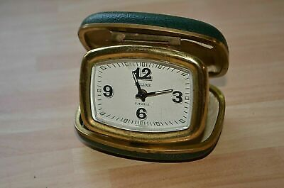 "Rare Vintage German travel alarm clock ""Deluxe"". Working good condition"