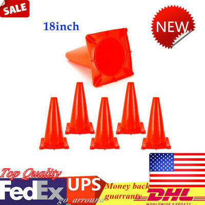 """10pcs 18/"""" Traffic Cones Overlap Parking Construction Emergency Road Safety Cone"""