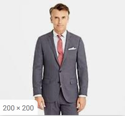 J.Crew Ludlow Traveler Suit Gray 34x32 pants and 40L jacket NEW with tags