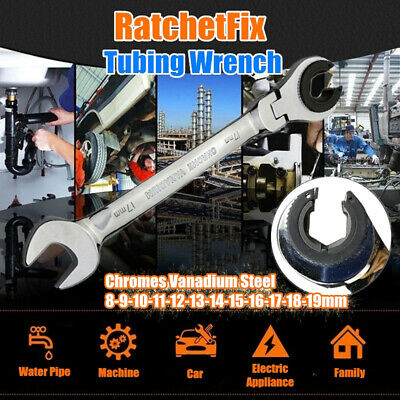 RatchetFix Tubing Wrench with 180° Movable Flexible Head Repair Tool HOT dfhu