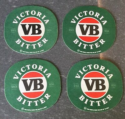 VB. Victoria Bitter. Beer Coasters x 4. Unused.