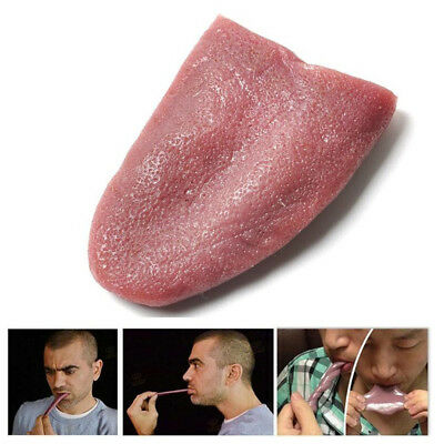 Realistic Tongue Gross Jokes Prank Magic Tricks Horrible Magician Prop Halloween