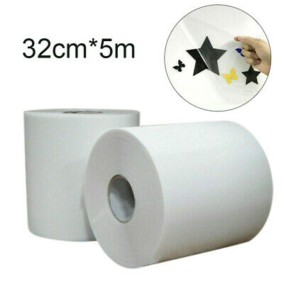 5M Wide Tack Paper Clear Transfer Film Tape Application Vinyl Sign Sticker 32cm