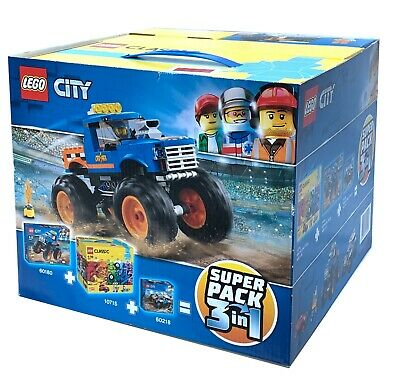 Lego City Classic Super Pack 3 in 1 - Great Value. Includes 60180 10715 60218