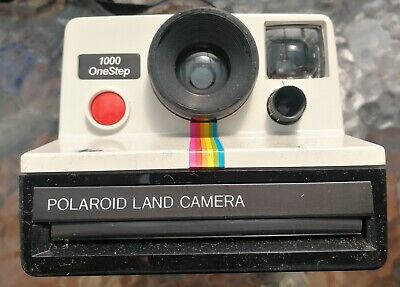 POLAROID 1000 One Step Rainbow Stripe Vintage Camera