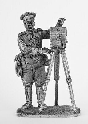 Photographer, Russian Imperial Army. Tin toy soldier 54mm (1/32)