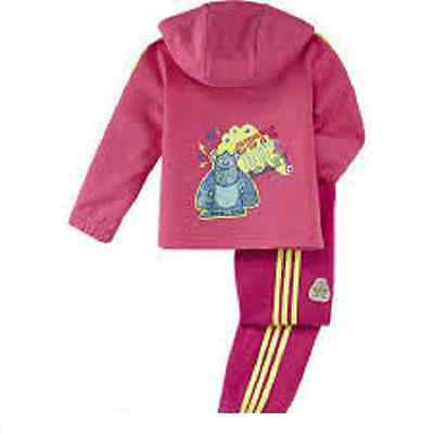 adidas girls pink infant baby tracksuit Baby set. Sizes 0-24M.