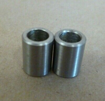 """1/4"""" ID x 3/8"""" OD x 1/2"""" TALL STAINLESS STEEL STANDOFF BUSHING SPACERS 2pc."""