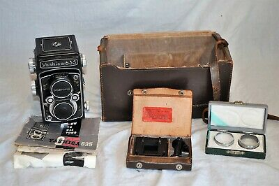 Yashica 635 Tlr Camera & 35Mm Adapter Kit #Dr