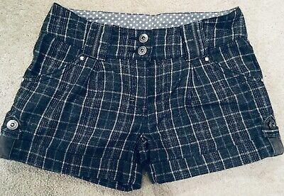 Signature NEXT Girls Shorts 13 years 158cm Wool Blend Sparkly Checked Grey