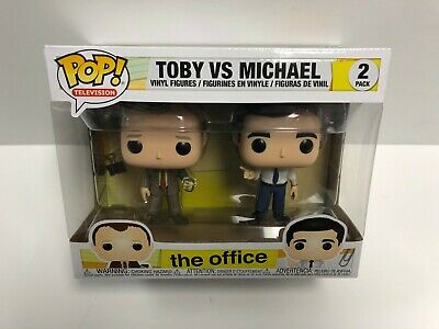 TOBY VS MICHAEL 2 pack The Office FUNKO POP vinyl figures